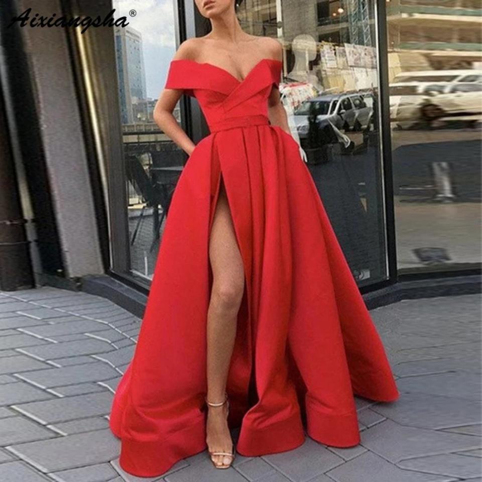 Red Prom Gown Long Formal Dress Size 16 Xl Plus 0x Red Prom Dress Long Trendy Prom Dresses Prom Night Dress [ 960 x 960 Pixel ]