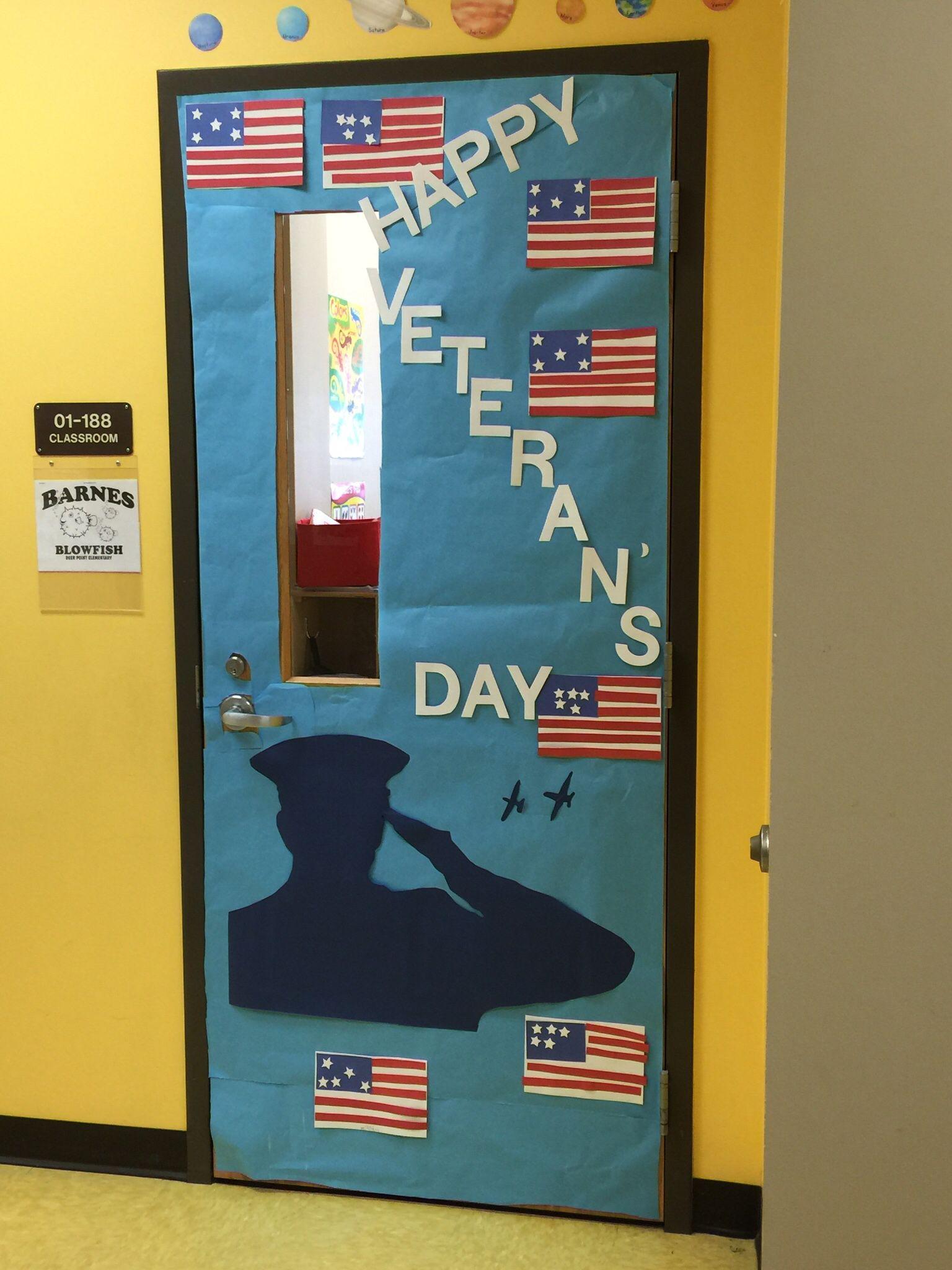 Veterans Day Classroom Door Decoration With Images