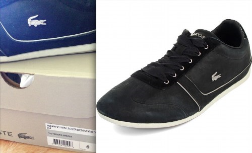74.43$  Buy here - http://vifpb.justgood.pw/vig/item.php?t=1v7oo9q44866 - LACOSTE MISANO W11 Shoes 6 Black Leather Silver Crocodile 7-27SRW1200-024 $120+ 74.43$