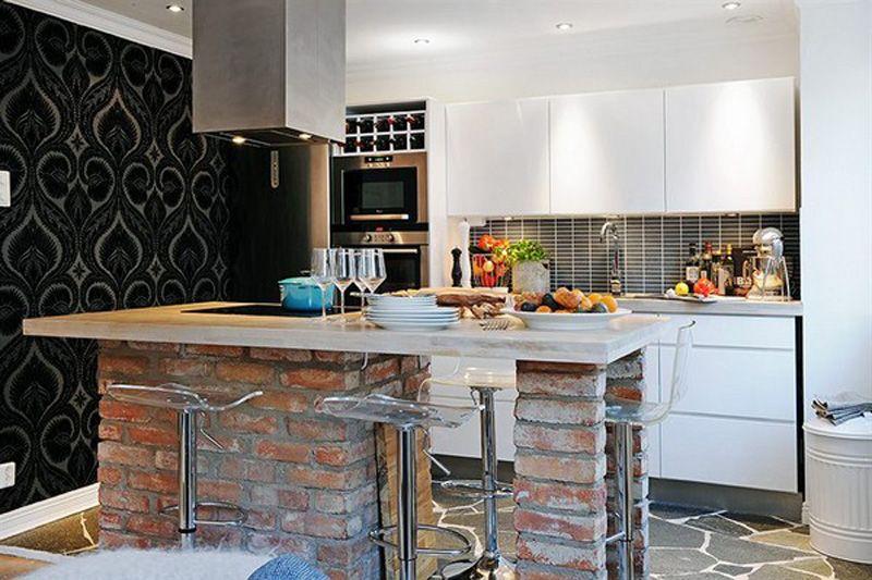 Modern Meets Rustic Brick · Small Apartment ... Nice Ideas