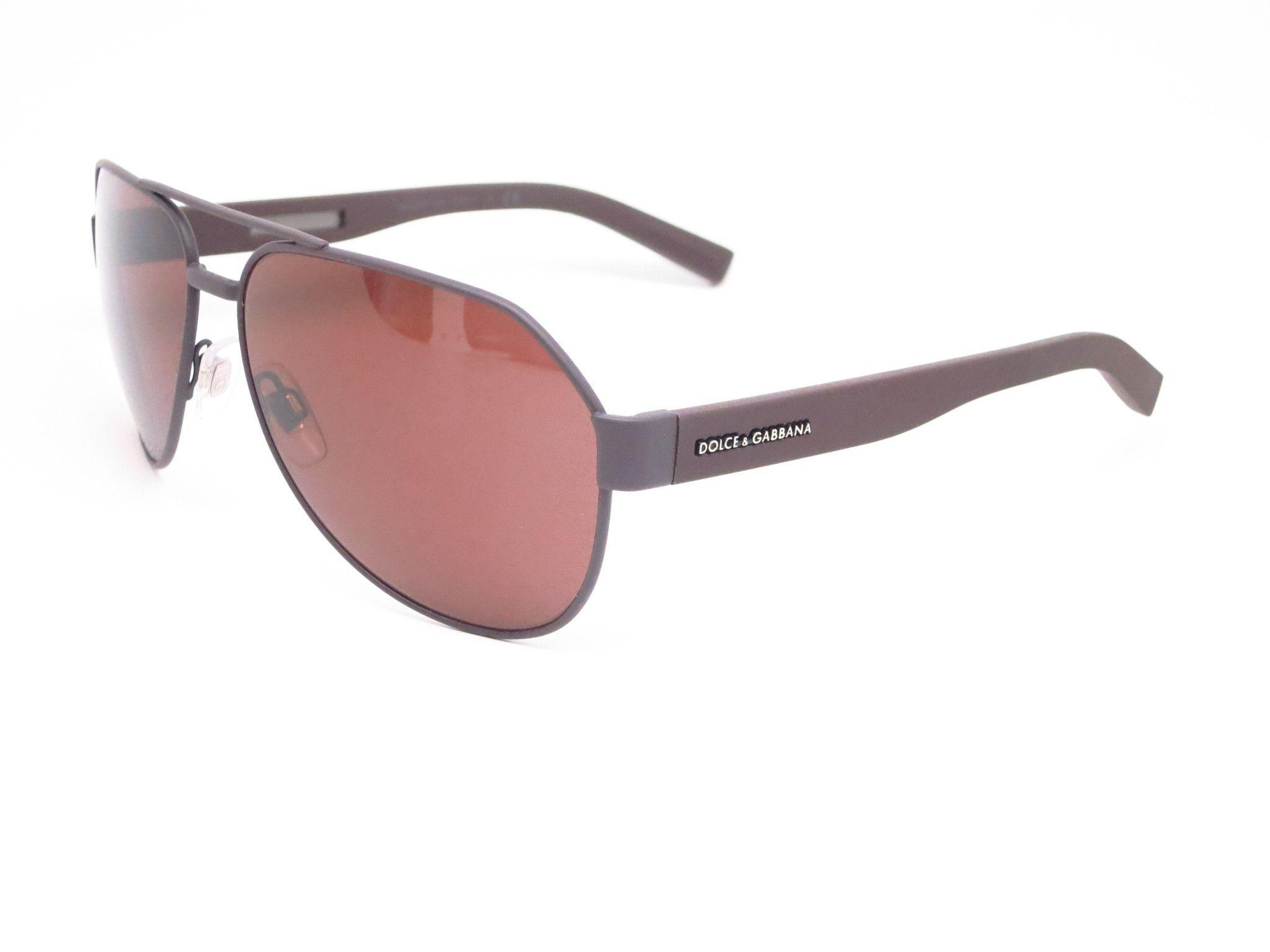 f11ae09b4aa Dolce   Gabbana DG 2149 1274 73 Brown Rubber Sunglasses