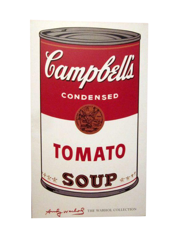 Andy Warhol's Campbell's Tomato Soup Can Poster on ...