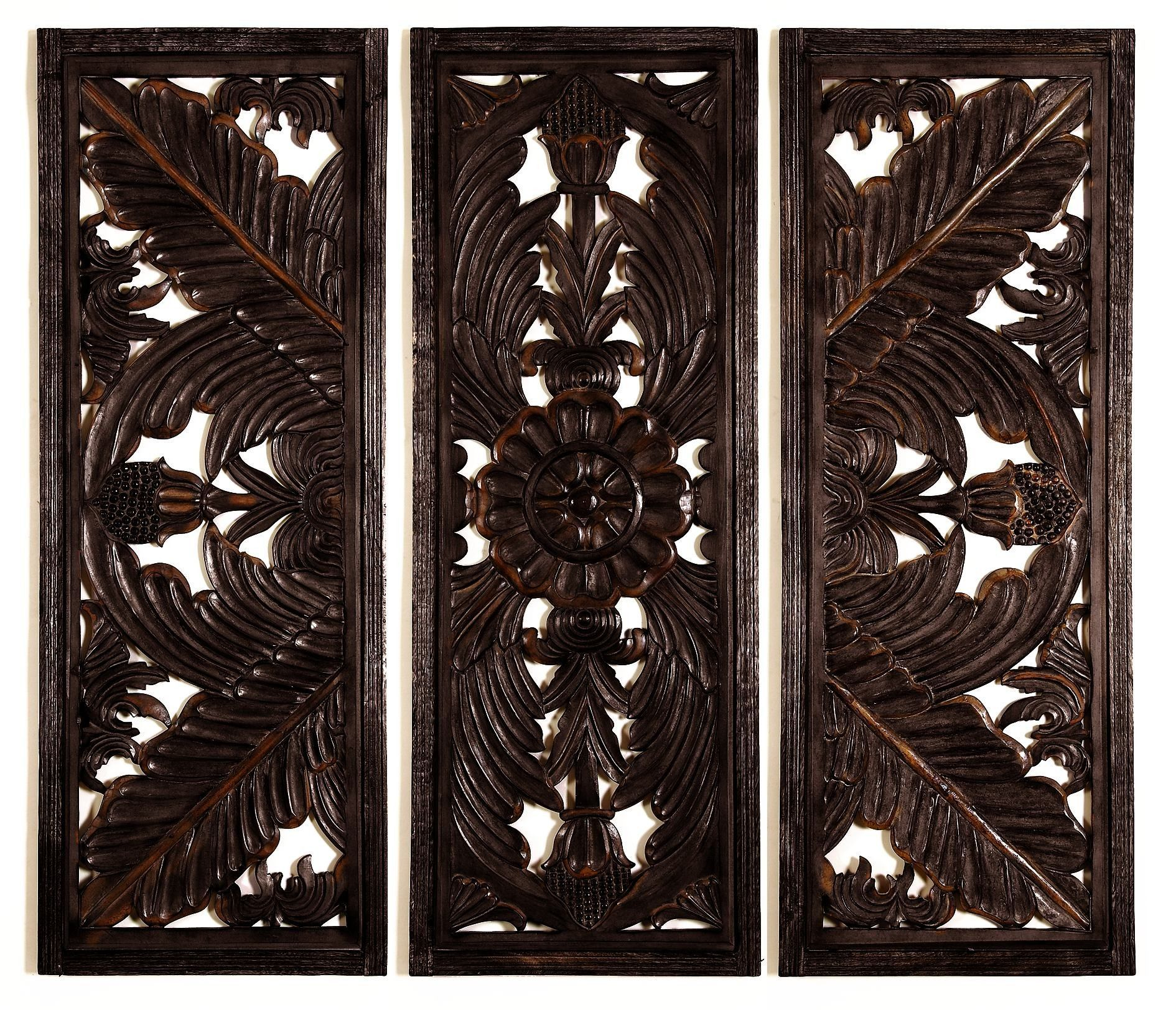 3 Piece Wooden Wall Decor Set Wood Wall Plaques Wooden Wall Panels