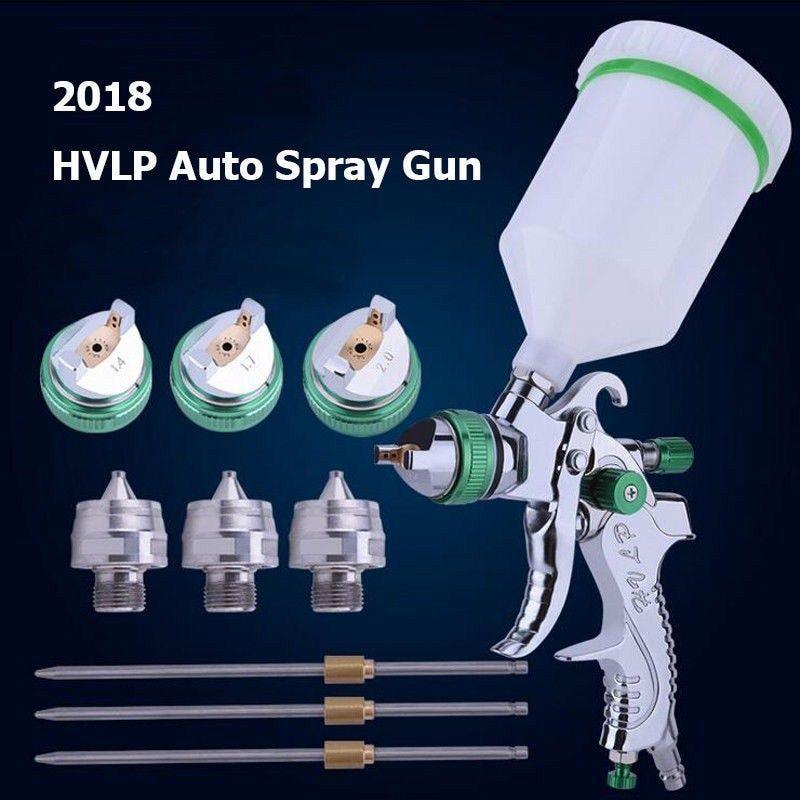 Big Discount Hvlp Paint Spray Gun Set 1 4mm 1 7mm 2 0mm Steel Nozzle Cars Painting Furnitures Diy Painting Painting Furniture Diy Car Spray Paint Paint Sprayer