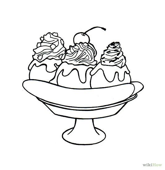 Gallery For Banana Split Coloring Page Elementary School