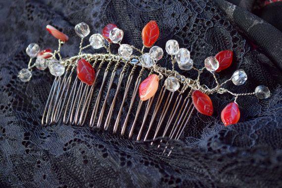 Wedding hair accessory Girl hair comb Crystal hair accessories #hair #wedding #bridesmaid #summer #comb