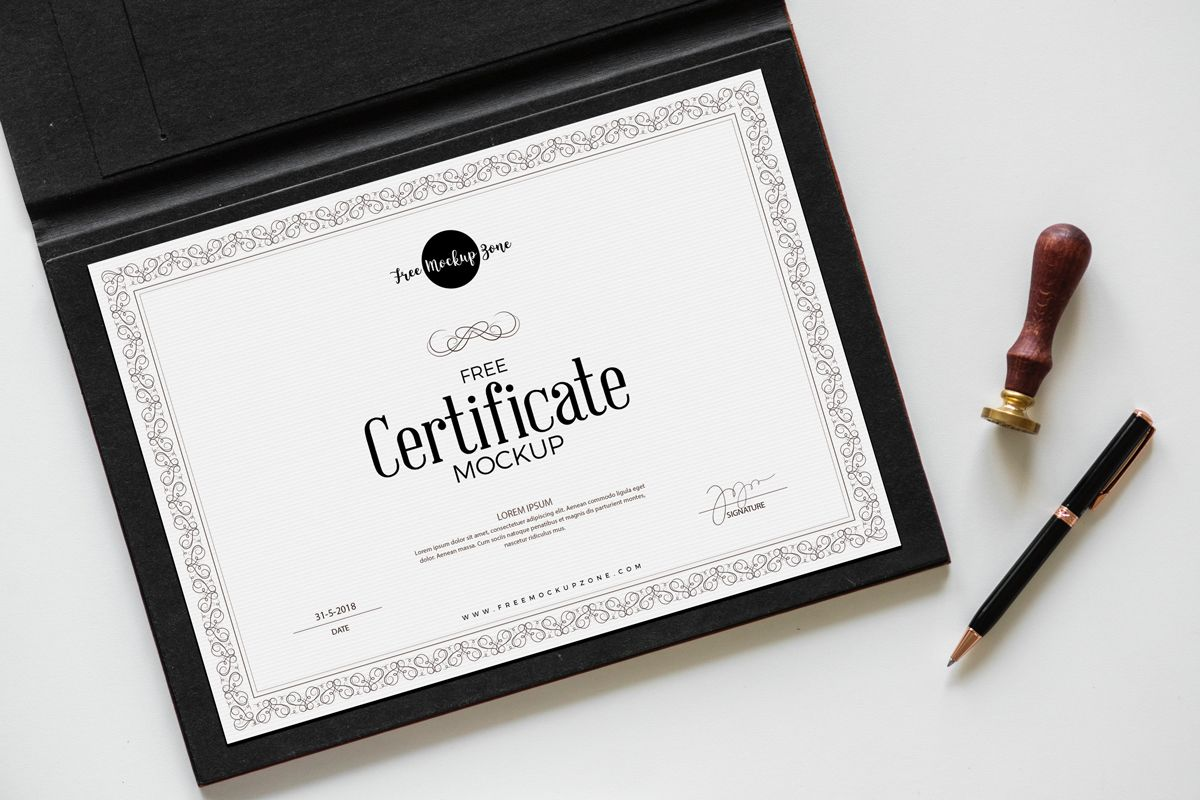 Don T Hesitate To Grab This Elegant Certificate Psd Mockup Template And Use It To Create A Certificate Design Certificate Templates Certificate Design Template