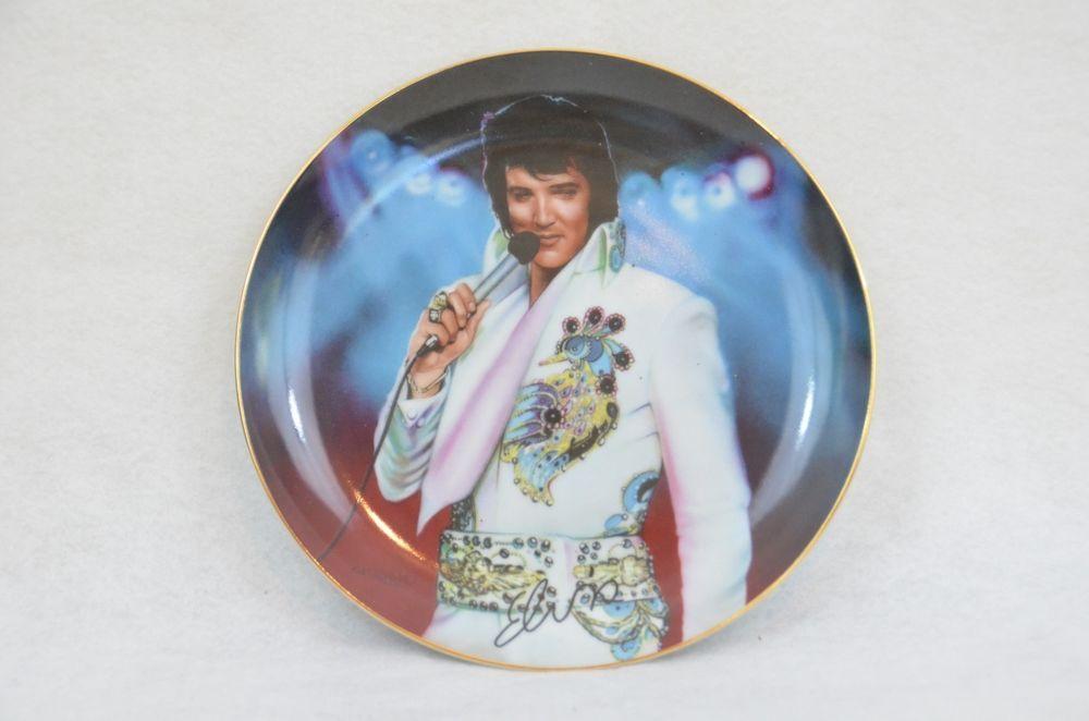Elvis Presley Porcelain Collectors Plate 1995 Nate Giorgio Bradford Exchange In Collectibles Decorative Collectibles Decorat With Images Ebay Plates Bradford Exchange