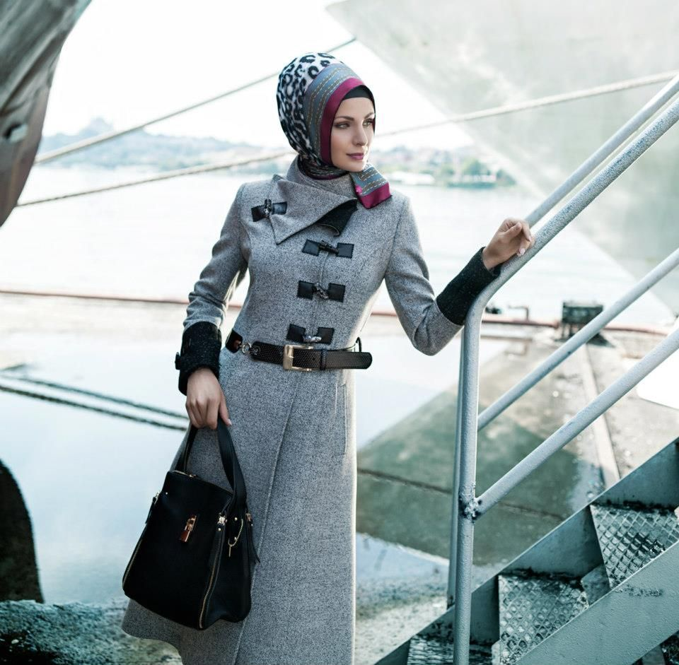 Zuhre Pardesu Pardesu Coat Hijab Giyim Sik Manto