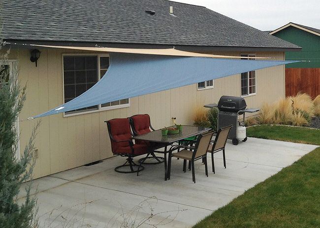 Cover Your Outdoor Space With Shade Sails Designing Pinterest