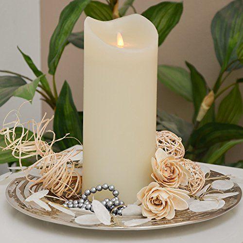 Led Kerze Echtwachskerze Mit Timer O9 5cm Echtes Candles Pillar