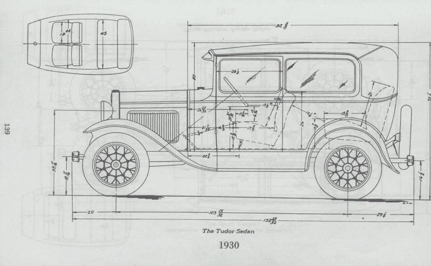 Ford Tudor (1930) Blueprints, Ford, Aircraft modeling