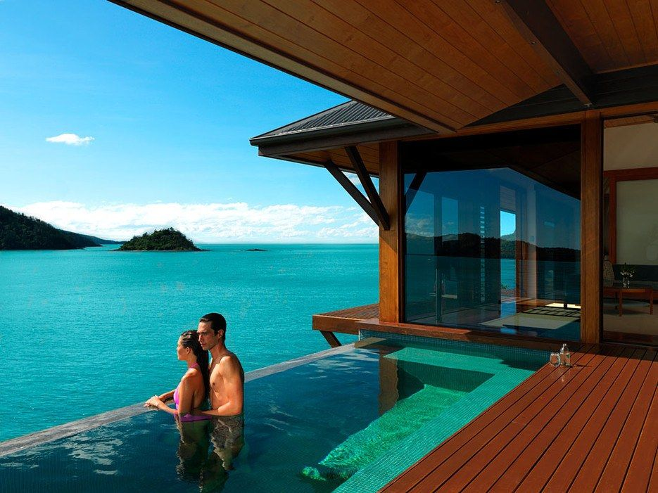 Honeymoon planners, take note: Australia's qualia—on the northern tip of Hamilton Island in the Great Barrier Reef—could be the most romantic tropical getaway you'll find. The 60 individual, villa-like pavilions (some with private infinity pools) look out onto the sparkling Coral Sea, and while you won't be the only ones here, the resort makes you feel as if you are.