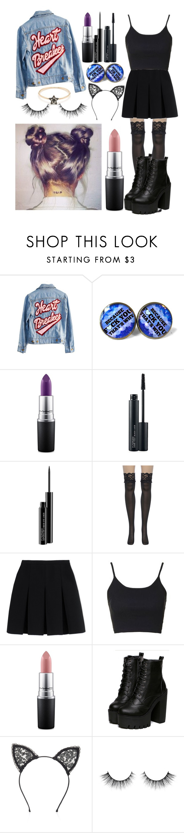 """How to be a heartbreaker by Mariana and the diamonds"" by kaelahclothier on Polyvore featuring High Heels Suicide, MAC Cosmetics, Alexander Wang, Topshop and Fleur du Mal"