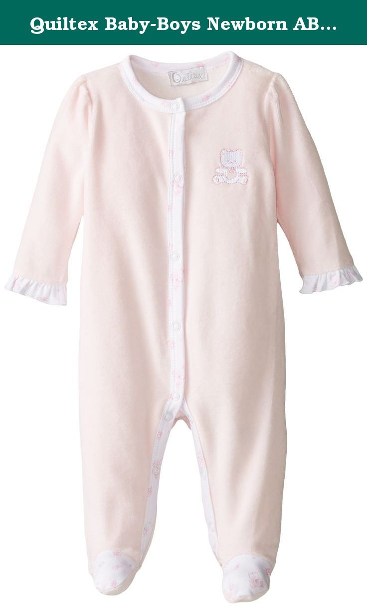 f6788871d Quiltex Baby-Boys Newborn ABC Velour 2 Piece Overall Set