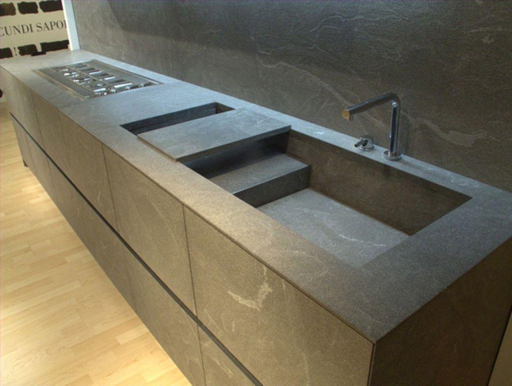 Pin by Jean Descy on Unusual Sinks | Stone kitchen, Modern ...