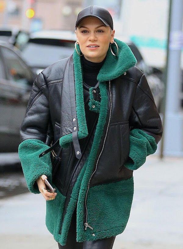 jessie-j-nyc-kenzo-green-shearling-asymmetric-zip-front-coat  51e486d1f