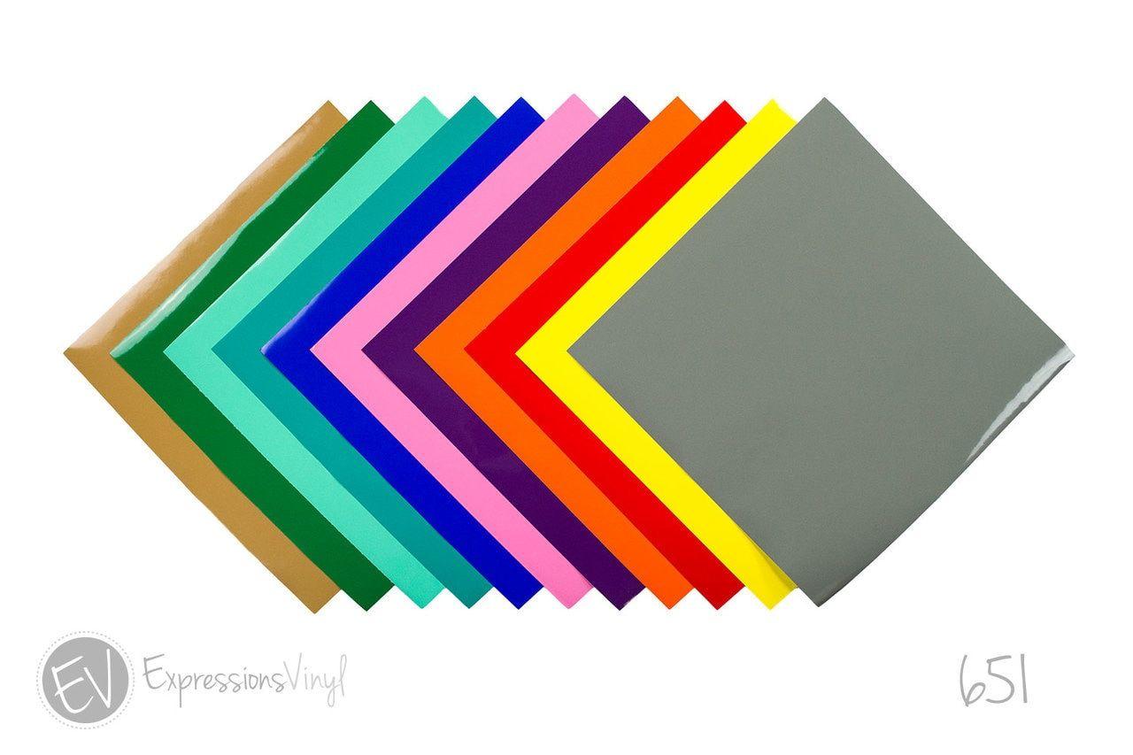 Oracal 651 Vinyl 12 X 24 Adhesive Vinyl Sheets Vinyl Sheets Inkjet Printable Vinyl