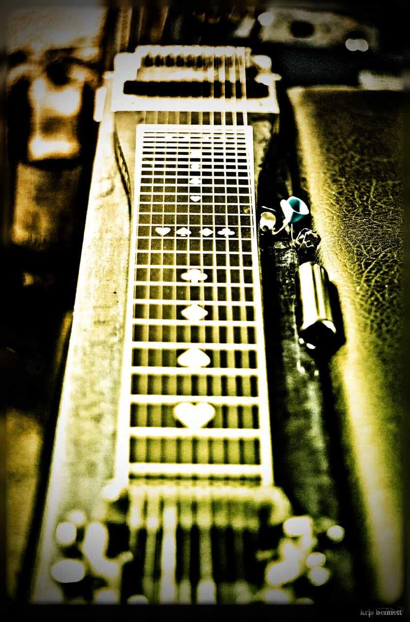 Dave Barker's pedal steel guitar