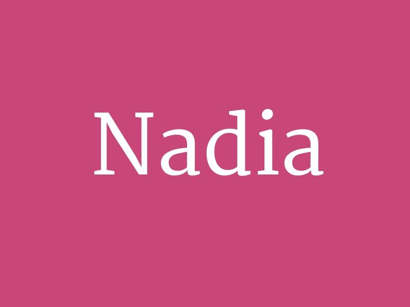 """Nadia - from the collection """"Huge List of Baby Girl's ..."""