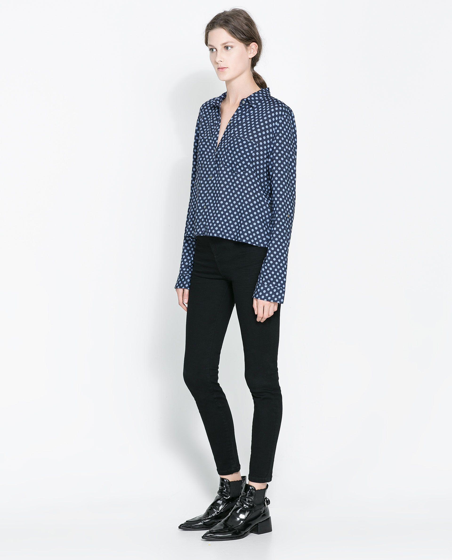1e367412 ZARA - WOMAN - HIGH WAIST SKINNY JEANS | Fashion | High waisted ...