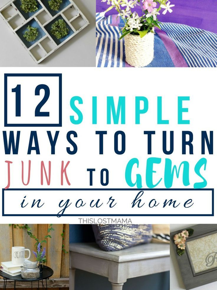 Junk Decorating Home Ideas Part - 45: 12 Simple Ways To Turn Junk Into Gems In Your Home