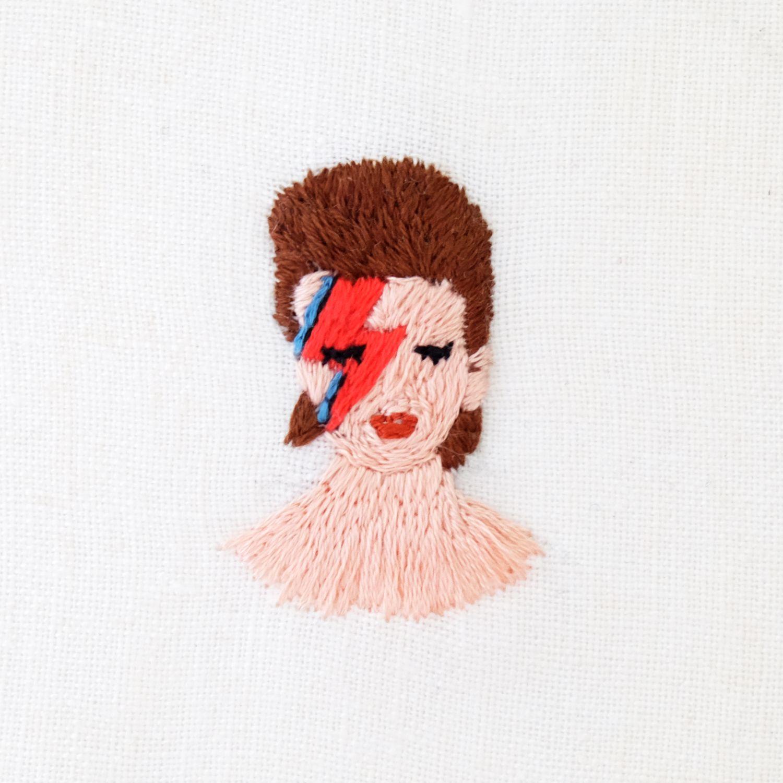 Needlepoint David Bowie * | Embroidery | Pinterest | Bordado ...