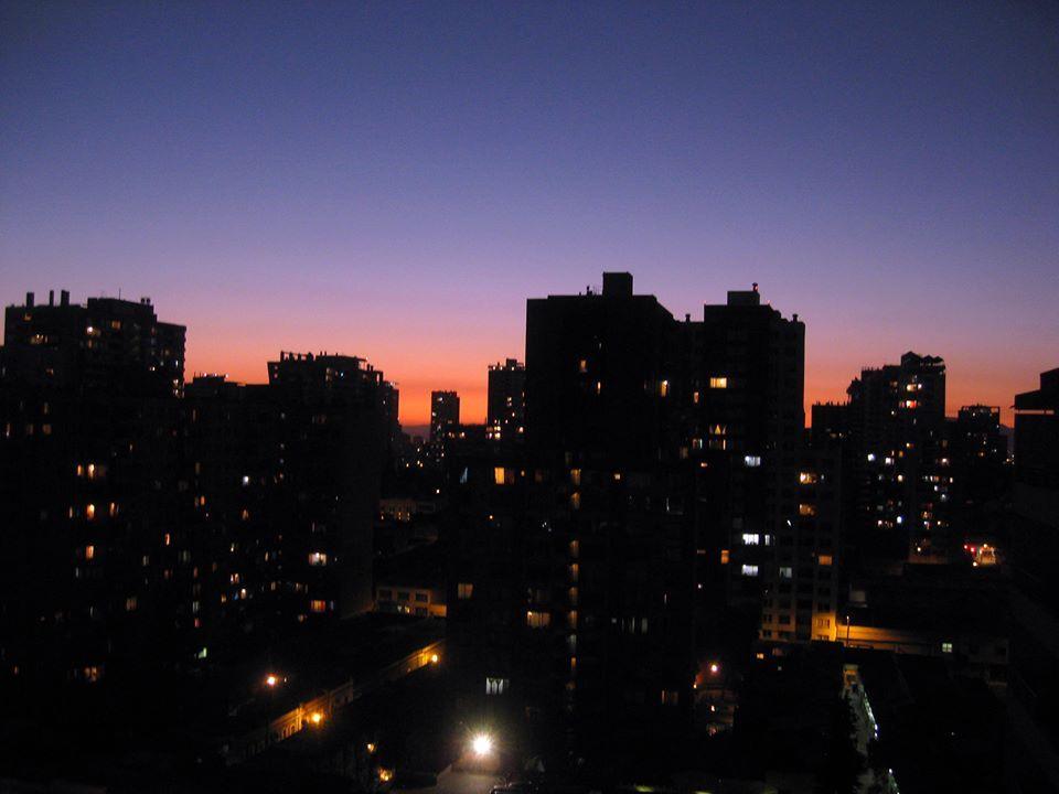 Noche primaveral en santiago