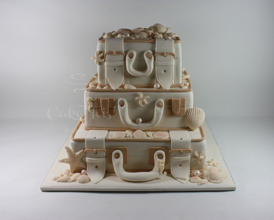 Vintage Wedding Cakes Vintage Luggage Wedding Cake Square