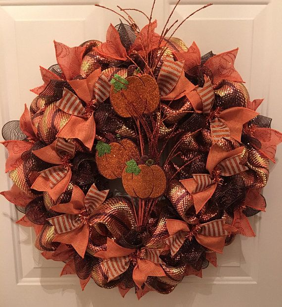 Harvest Wreath - Fall Wreath - Thanksgiving Wreath - Decorate your
