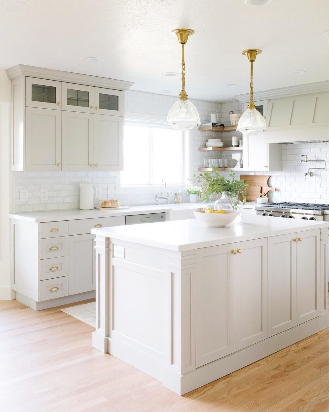 White, bright, and clean! This is a kitchen we could spend some time ...