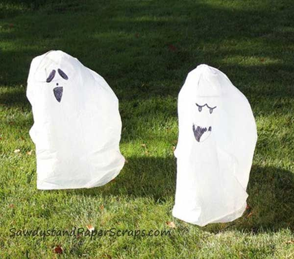 Diy-Halloween-items-With-Trash-Bags-1 Projects to Try Pinterest - cheap scary halloween decorations