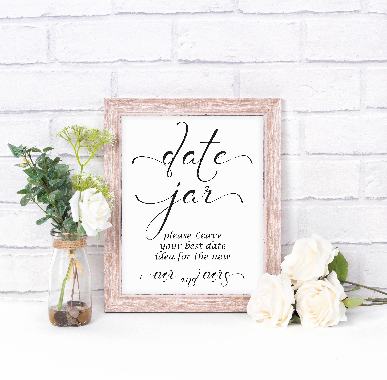 Date Jar Sign, Date Night Sign, Date Jar Ideas, Date Night
