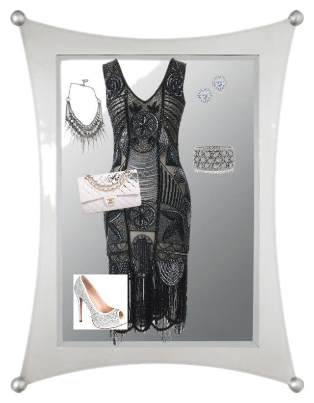 """""""Untitled #9"""" by joanna-mena on Polyvore featuring Quoizel, Unique Vintage, Lauren Lorraine, Chanel, Kobelli and Mark Broumand"""