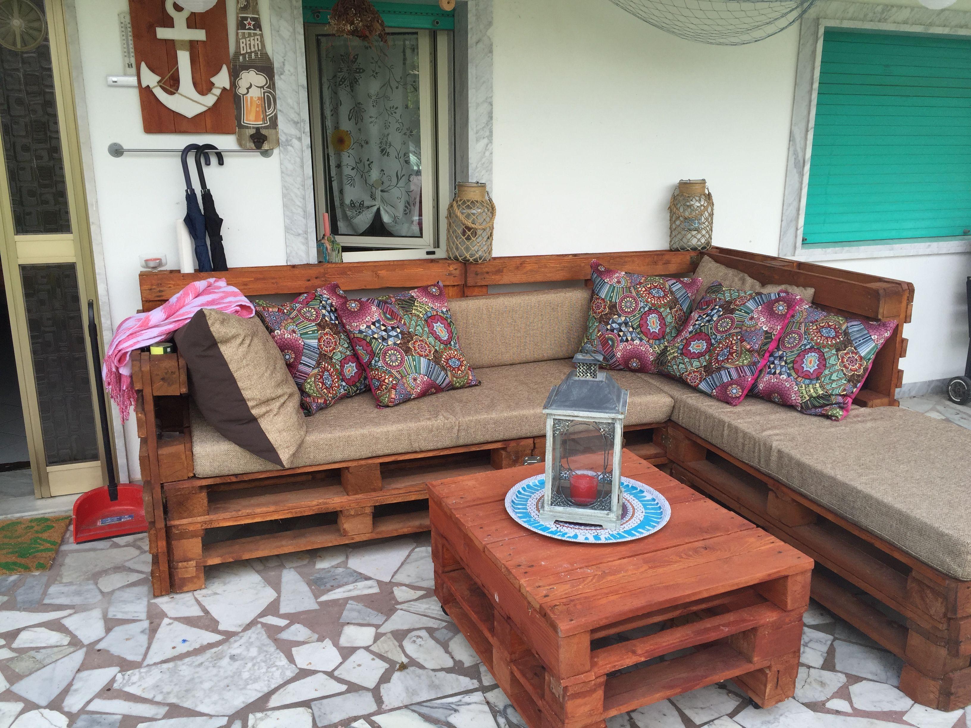 Divano bancali ~ Divano fatto di bancali pallet sofa palettensofa extern