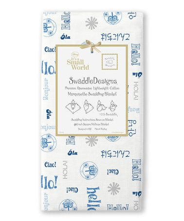 Look what I found on #zulily! 46'' x 46'' It's a Small World Marquisette Swaddling Blanket #zulilyfinds
