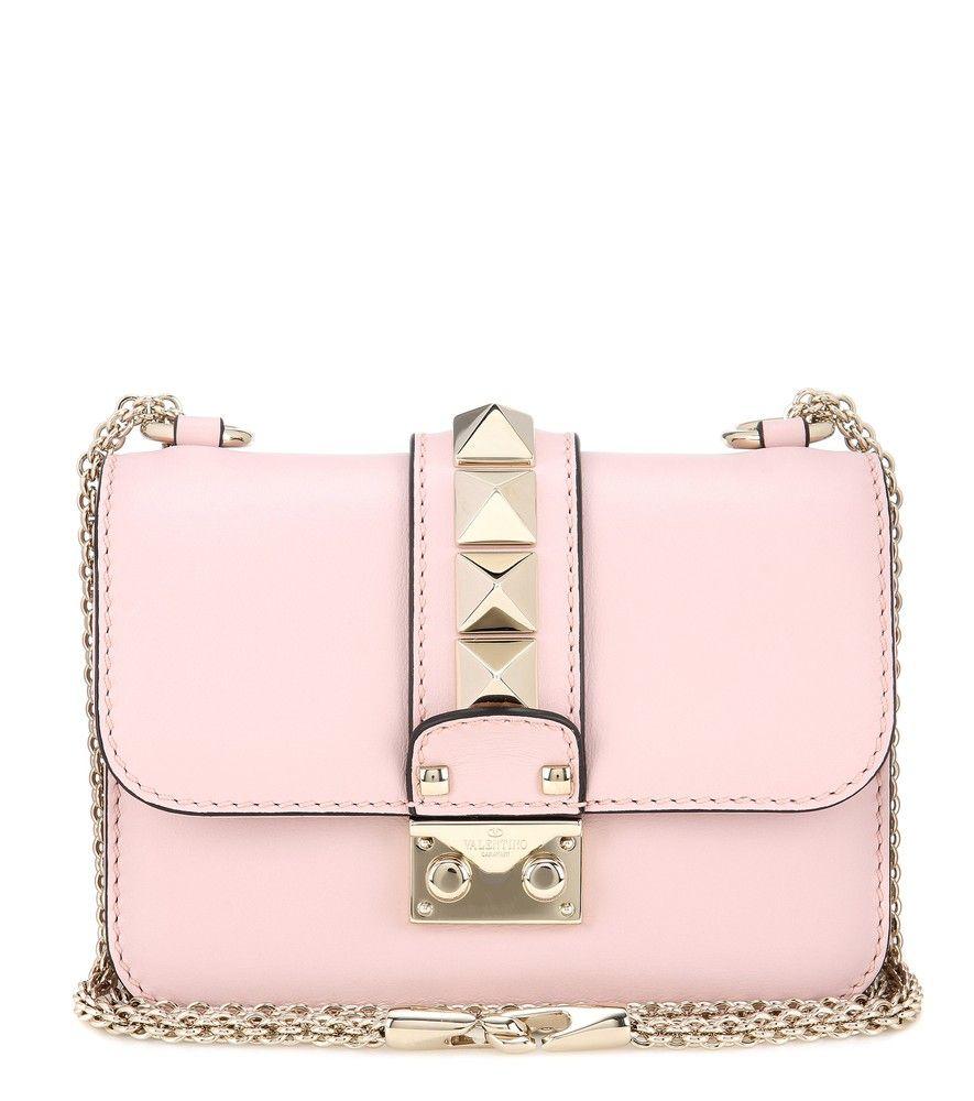 Valentino Garavani The Rockstud Leather Wallet - Baby pink Valentino ze3Vls1y