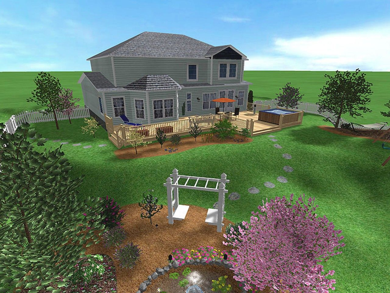 Large Yard Landscaping Ideas Front Yards Composition Glamorous