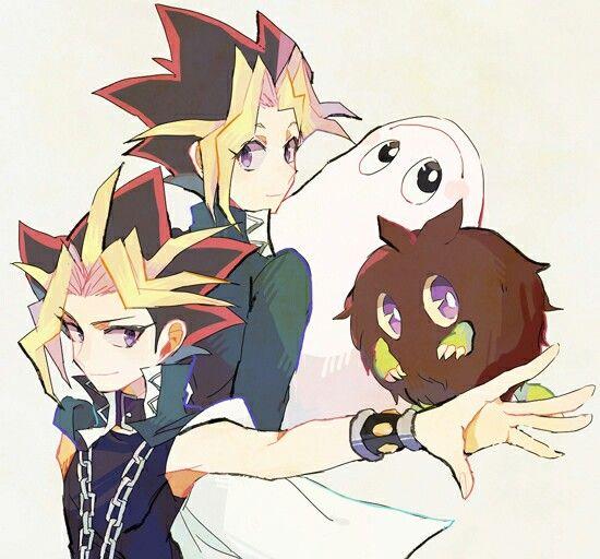 Yugi and marshmalon  Yami and kuriboh