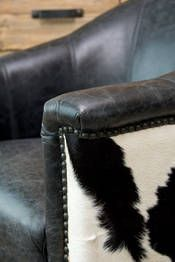 cowhide chairs nz x rocker gaming chair power adapter leather pinterest