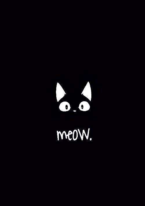 Black Cat Seni Latar Belakang Black cute cartoon wallpaper images