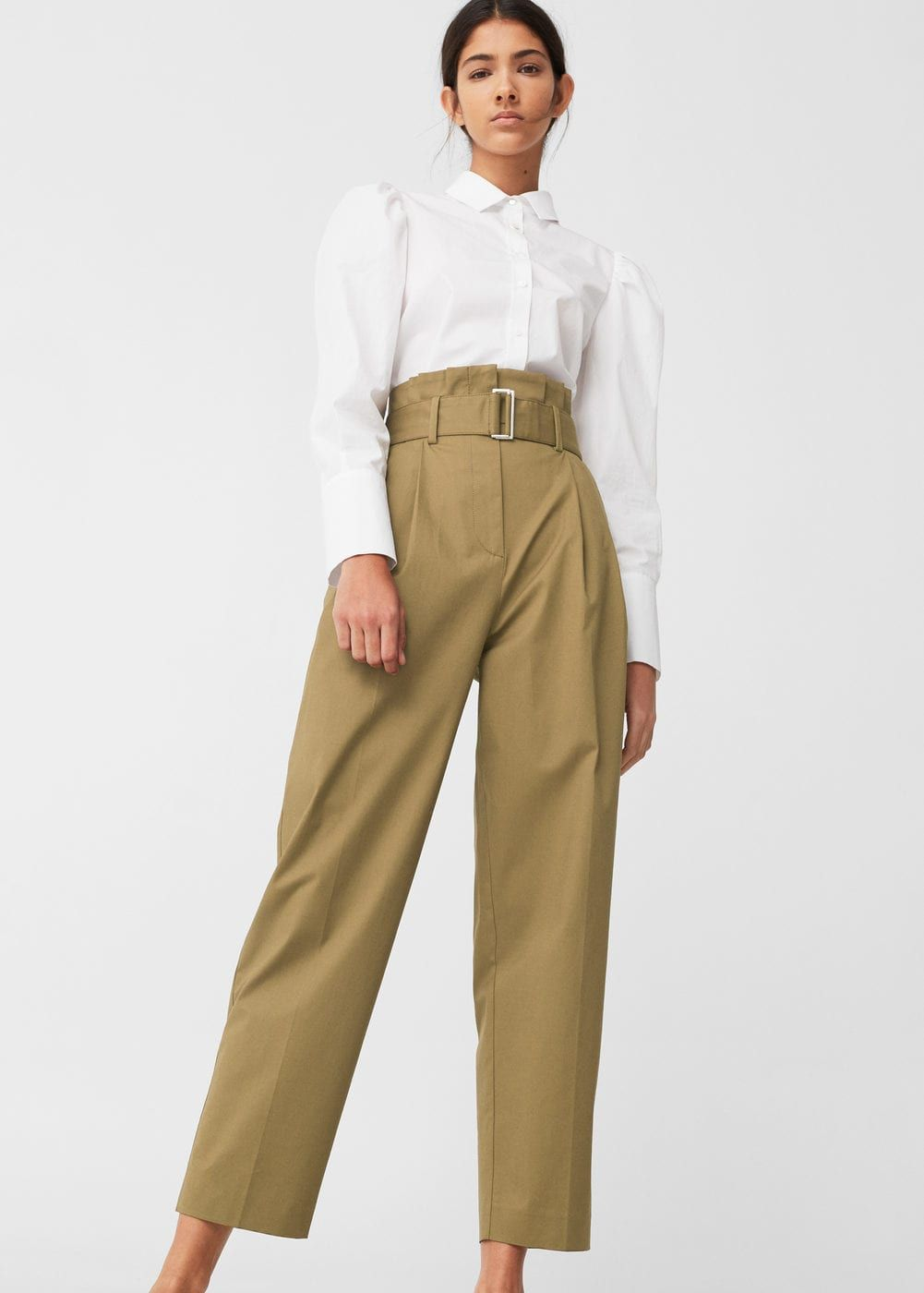 Pantalón cintura alta - Pantalones de Mujer  eb41f14558d
