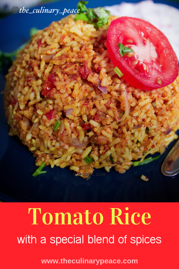 Tomato Rice Is A One Pot Meal Variety Made Of Rice Tomatoes And A Unique Blend Of Indian Spices This Indian Toma Tomato Rice Rice Recipes Indian Rice Recipes