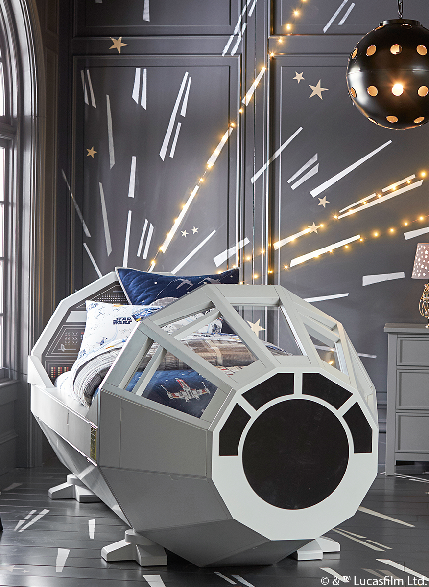The Millennium Falcon Star Wars Bed Mylittlejedi Star
