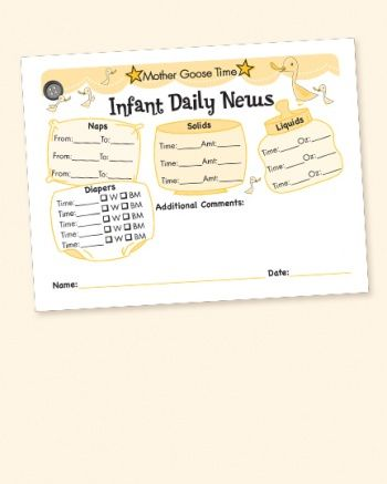 infant daily news *printed 4 to a sheet for new infant in care - what is an daily incident reports