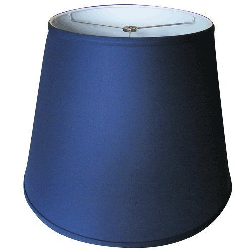 Lamp shade 11x17x13 washer fitter spider linen navy blue 13 x 17 lampshade aloadofball Gallery