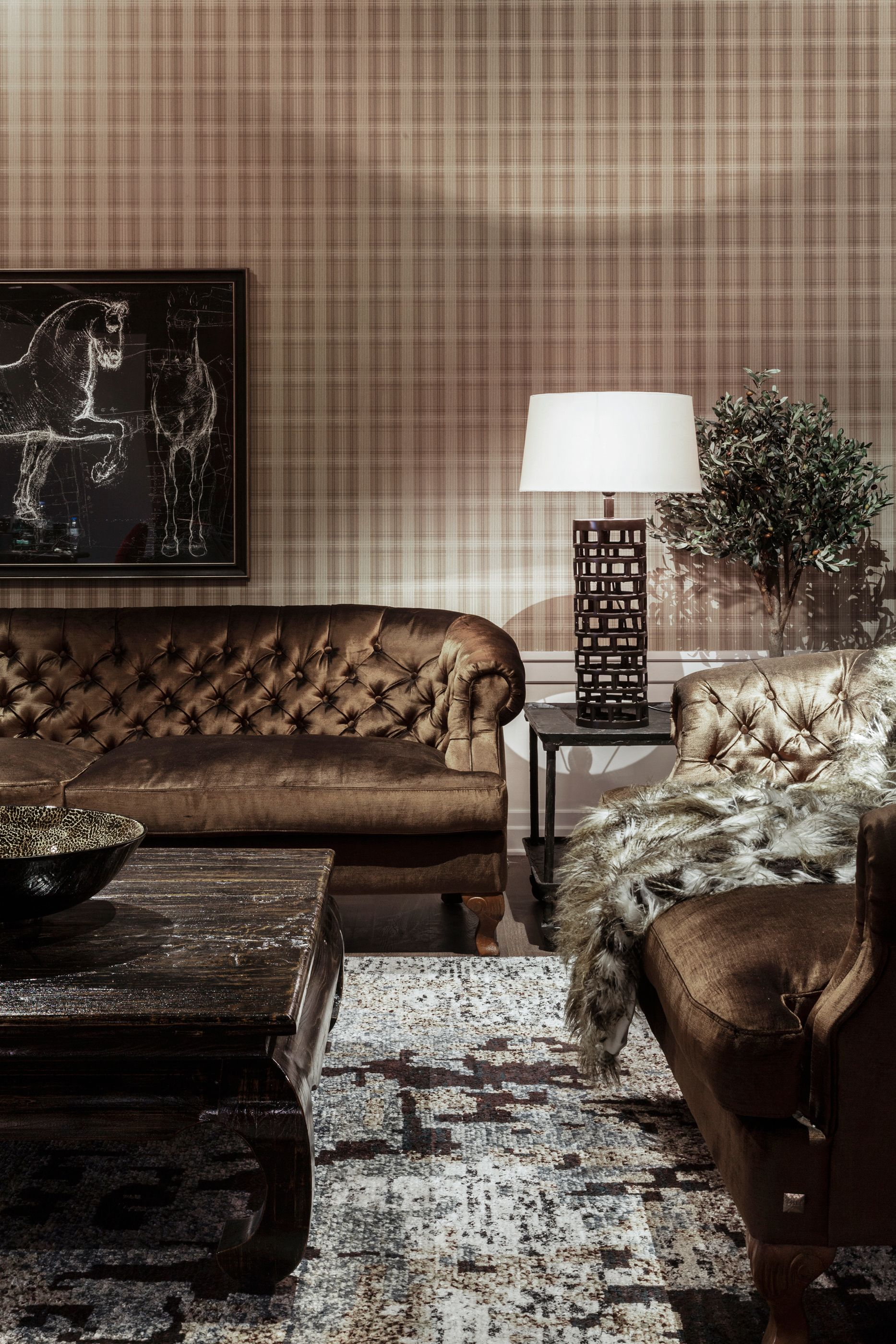 Living | Burlesque: Plush Velvet Sofa And Arm Chair To Complete A  Sophisticated Burlesque Look. Theatrical, Playful And Dramatic, The  Burlesque Look Brings ...