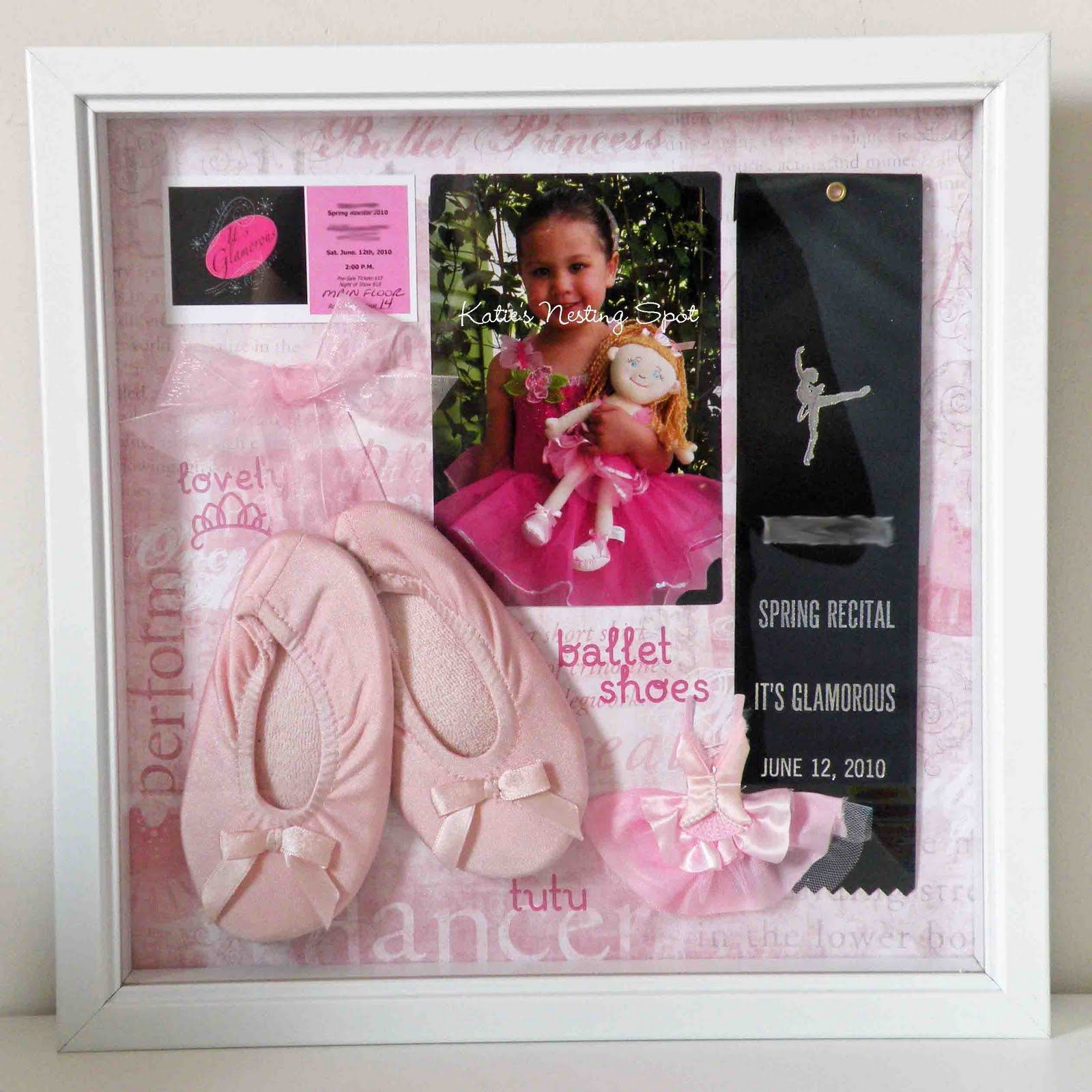 cute way to display first dance recital memories might be cute to