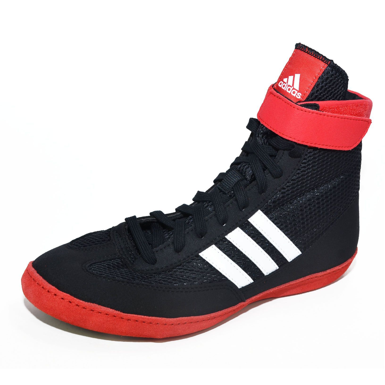 """Adidas """"combat Speed 4"""" Wrestling Shoes - Red Black"""
