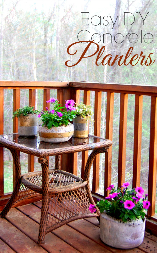 Easy Diy Concrete Planters This Easy Home Diy Project Is 640 x 480